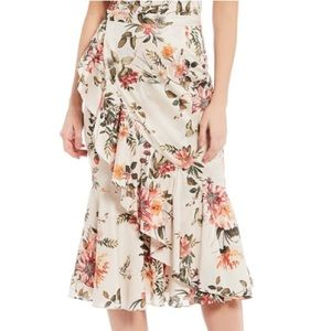 70aa65bbda5 SALE⬇️Antonio melani Genny Floral Ruffl Midi Skirt ...